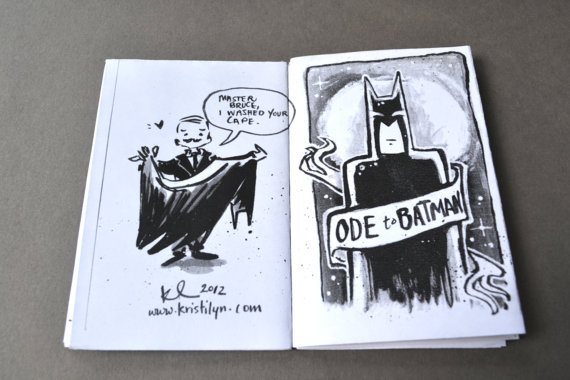 Inside preview of Comic Zine - Mini Ode to Batman